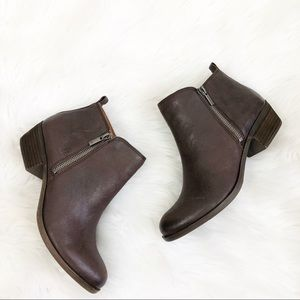 Lucky Brand LK-Basel Brown Leather Booties